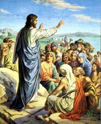 Иисус учит народ