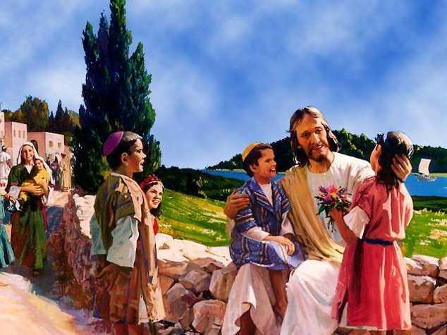 Христианские картинки - Иисус и дети (jpg, gif)